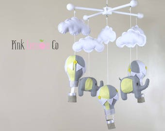 baby mobile - balloon baby mobile - hot air balloon mobile - nursery baby mobile - crib baby mobile - baby mobiles hanging - mobile