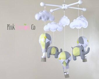 baby mobile, balloon baby mobile, hot air balloon mobile