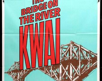 Bridge on the River Kwai (1958) R73 Three Sheet Movie Poster
