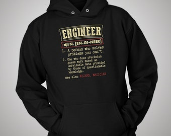 Engineer Funny Dictionary Definition Hoodie