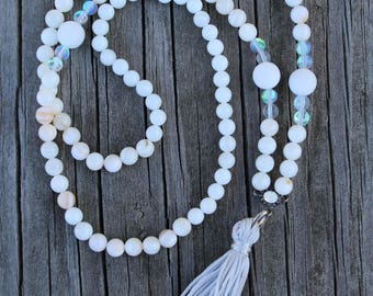 Mala Necklace // Crown Chakra