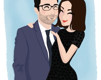 Custom portrait duo/couple (2 people)