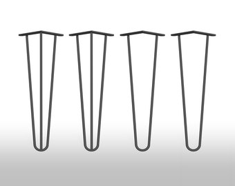 4 x hairpin legs legs leg 41 40 cm hair pin legs mid century table