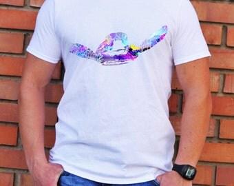 Turtle Tee - Colorful T-shirt - Fashion T-shirt - White shirt - Printed shirt - Men's T-shirt - Gift