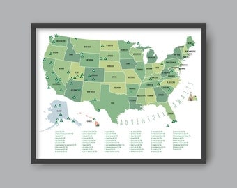 US National Park Map, PRINTABLE Adventure Awaits US National Park Map Kid nursery Modern home decor (#P358)