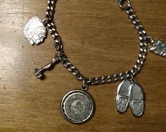 Daniel Boone Child's bracelet//Camping Bracelet//Kid's Charm Bracelet//Souvenier Bracelet// Grandfather Mountain souvenier