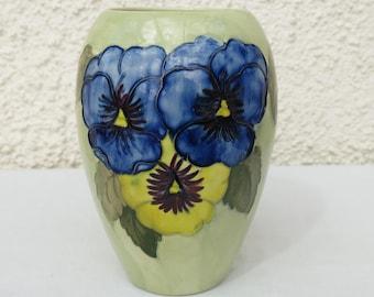 Vintage Moorcroft Vase - Pansy Design