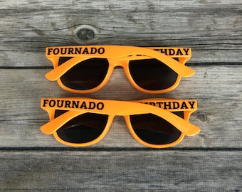 Fournado KIDS Personalized Sunglasses, Fourth Birthday Party Favors, Reusable Favor Idea, Children's Birthday Favor, Boys 4th Birthday