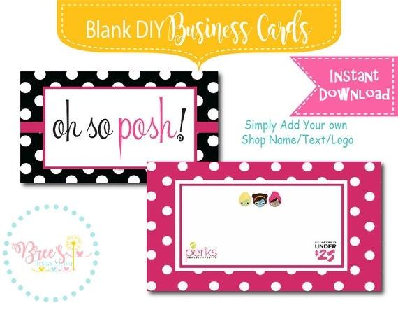 Oh So Posh DIY Perfectly Posh Polka Dot Business Card design