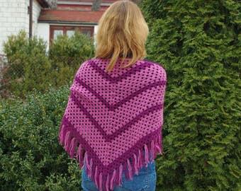 Triangle crochet wrap / scarf / shawl