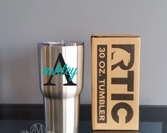 Personalized Stainless steel tumbler, RTIC Tumbler cup, Stainless steel cup, Monogram tumbler, 30 oz tumbler, personalized gifts, travel cup