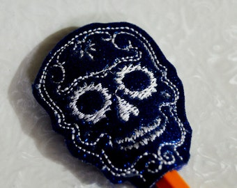 Sugar Skull Headband Slider from BrainstormEmbroidery on ...