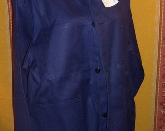 A vintage blue cotton canvas, the mount CARMEL work jacket