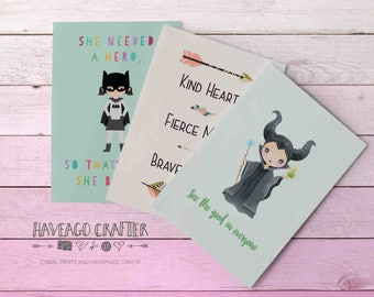 Fun and inspirational quote postcards / notecards - series 3