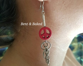 SALE! Red Peace Signs