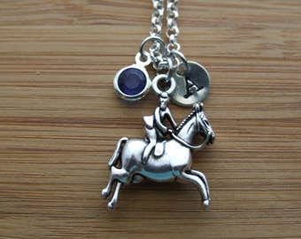 Equestrian Necklace, Horse Riding Necklace, Horse Lover Necklace, Horse's Sports Lover, Horse Lover Gift,Horse Rider Lover Gift,Personalized