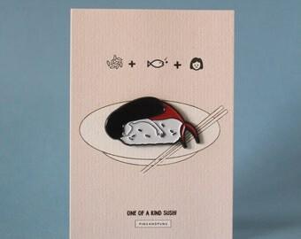Mermaid Sushi Soft Enamel Pin
