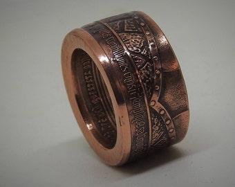 Coin ring Knights Templar - 1 oz. 999 copper