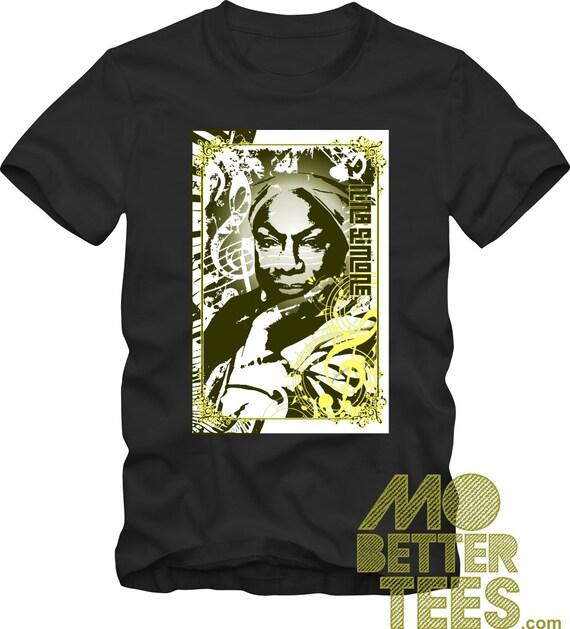Nina Simone black T-Shirt tribute musical graphic tee