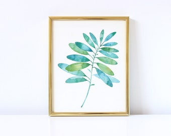 Nature Decor, Leaf Print, Leaf, Wall Art, Modern Art, Leaf, Nature Art, Printable Wall Art, Botanical Decor, Leaf Decor, Watercolor Wall Art