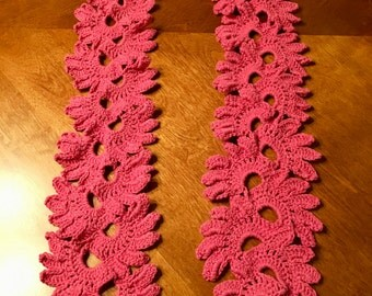 Crochet Decorative Lotus Flower Fashion Scarf
