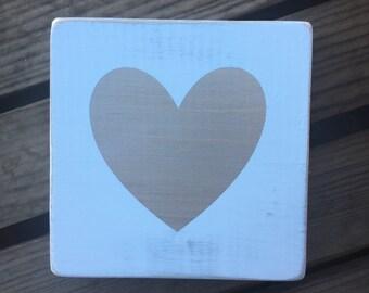 Gold shimmer heart wood sign. Wedding decor. Valentine's Day decor. Painted sign. Heart sign. Gold heart.