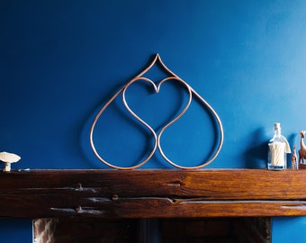 Double Heart | Copper wall feature | Sculpture