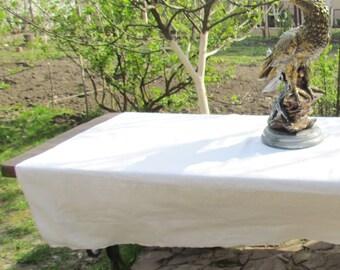 Rustic Vintage linen tablecloth Vintage housewarming gift Table Decor Vintage Wedding Decoration linen table cover table runner Table Topper