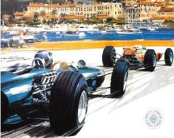 1966 Monaco Grand Prix Poster A3 / A2 Print