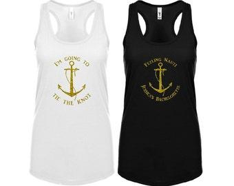 Bachelorette Party Tanks, Bachelorette Party Shirts, Bridal Party Shirts, Bridal Party Tanks, Nautical Bachelorette , Tie the Knot