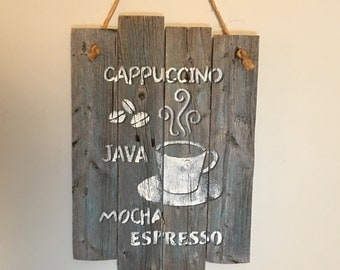 Rustic Kitchen Coffee Sign, farmhouse kitchen, fixer upper style, Country kitchen decor, Coffee, Rustic Kitchen decor, reclaimed wood decor