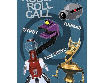 MST3K - Robot Roll Call Poster - Mystery Science Theater 3000 Poster Print