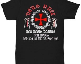 Knights Templar - Deus Vult  shirt v2