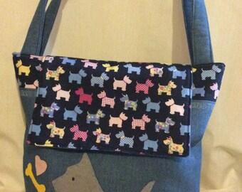 Tote Bag/Everyday Bag/Handmade/Casual Bag/denim bag/Shoulder bag/Handbag/large bag