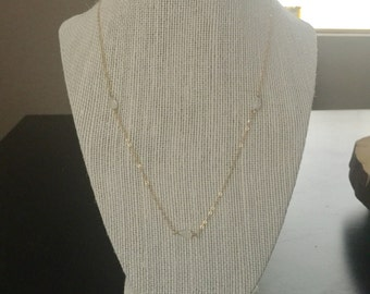 Delicate moonstone and gold necklace/gemstone and gold necklace/dainty moonstone necklace