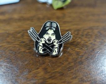 X-23 (Laura Kinney) Fan Art Soft Enamel Hat & Lapel Pin (X-Men, Wolverine, Logan)