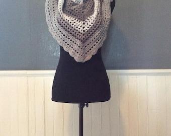 Spring triangle  Scarf/shawl/wrap different shades of grey