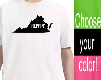 Youth Clothing, Virginia State Shirt, Kid Toddler Shirts, Baby Onesie, Unisex kids, Pink Lime Green Black White Shirts, Kid tshirt