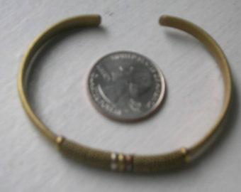Handmade Brass Bracelet Wrapped Wire Cuff