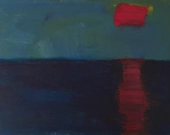 The Sunset: Original Acrylic Painting by Kyoko Watanabe