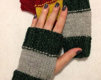 Harry Potter Hogwarts House Fingerless Gloves