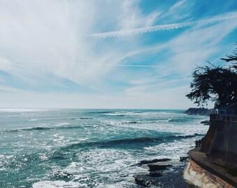 East Cliff Drive//Santa Cruz, CA//Perfect Day//Coastal Wall Art//Surf City, USA//Beachy//Summer Time
