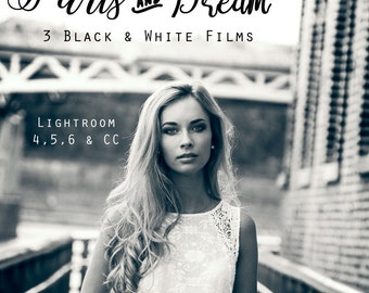 3 Presets Black and White - Paris and Dream Films for LR 4,5,6,CC