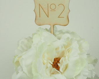 Wooden Table Numbers, Laser Cut Table Number Signs for Centerpieces
