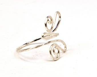 Butterfly fine adjustable ring, silver wire wrapped jewelry, unique jewellery handmade birthday gift, women, girl, friendship love delicate