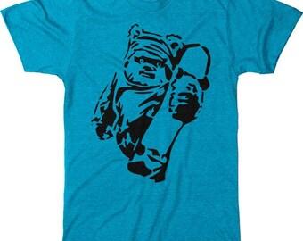 Skateboarding Ewok Men's Tri-blend T-Shirt