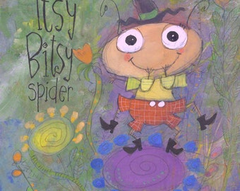 The Itsy Bitsy Spider - Digital Print