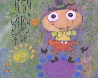 The Itsy Bitsy Spider - Digital Print
