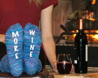 More Wine Socks