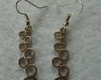 Hanging earrings 'Circles'